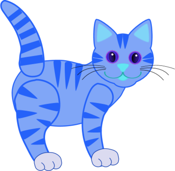 Blue cat clipart image royalty free stock 28+ Collection of Blue Cat Clipart | High quality, free cliparts ... image royalty free stock