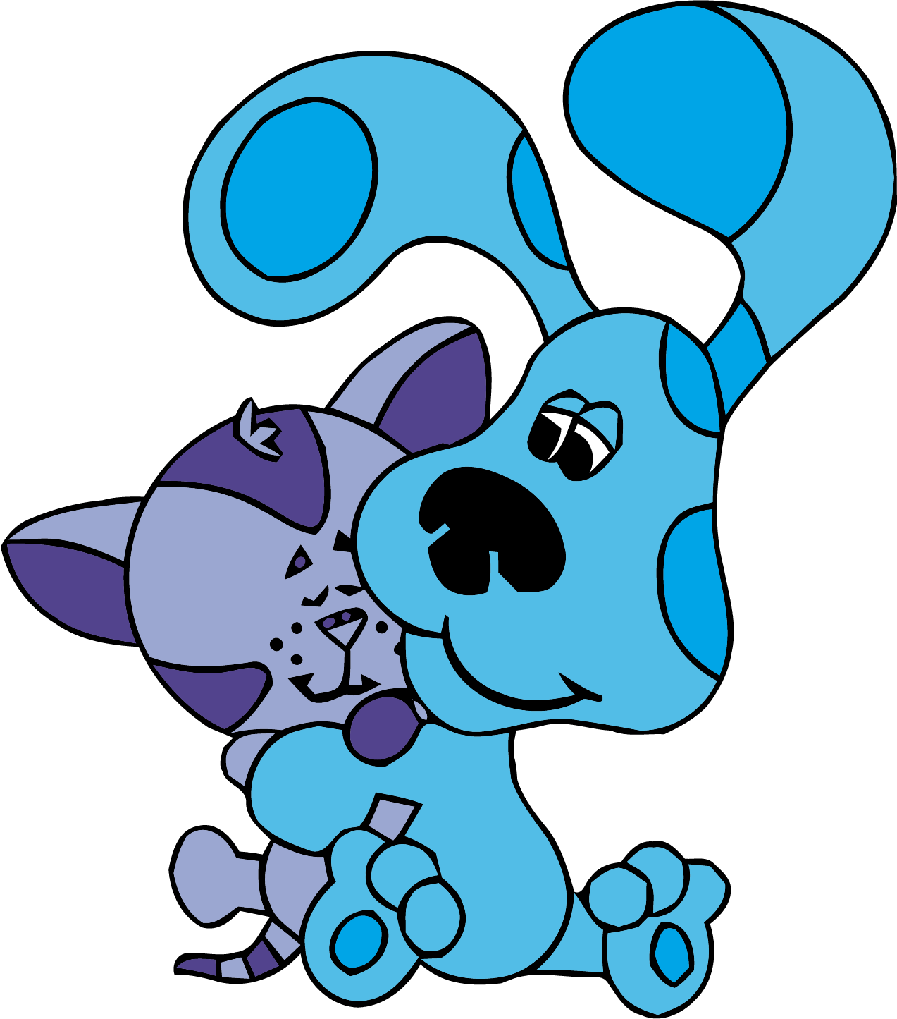 Blue cat clipart picture library library Blue's Clues Clip Art Love Cat Clipart Png - Clipartly.comClipartly.com picture library library