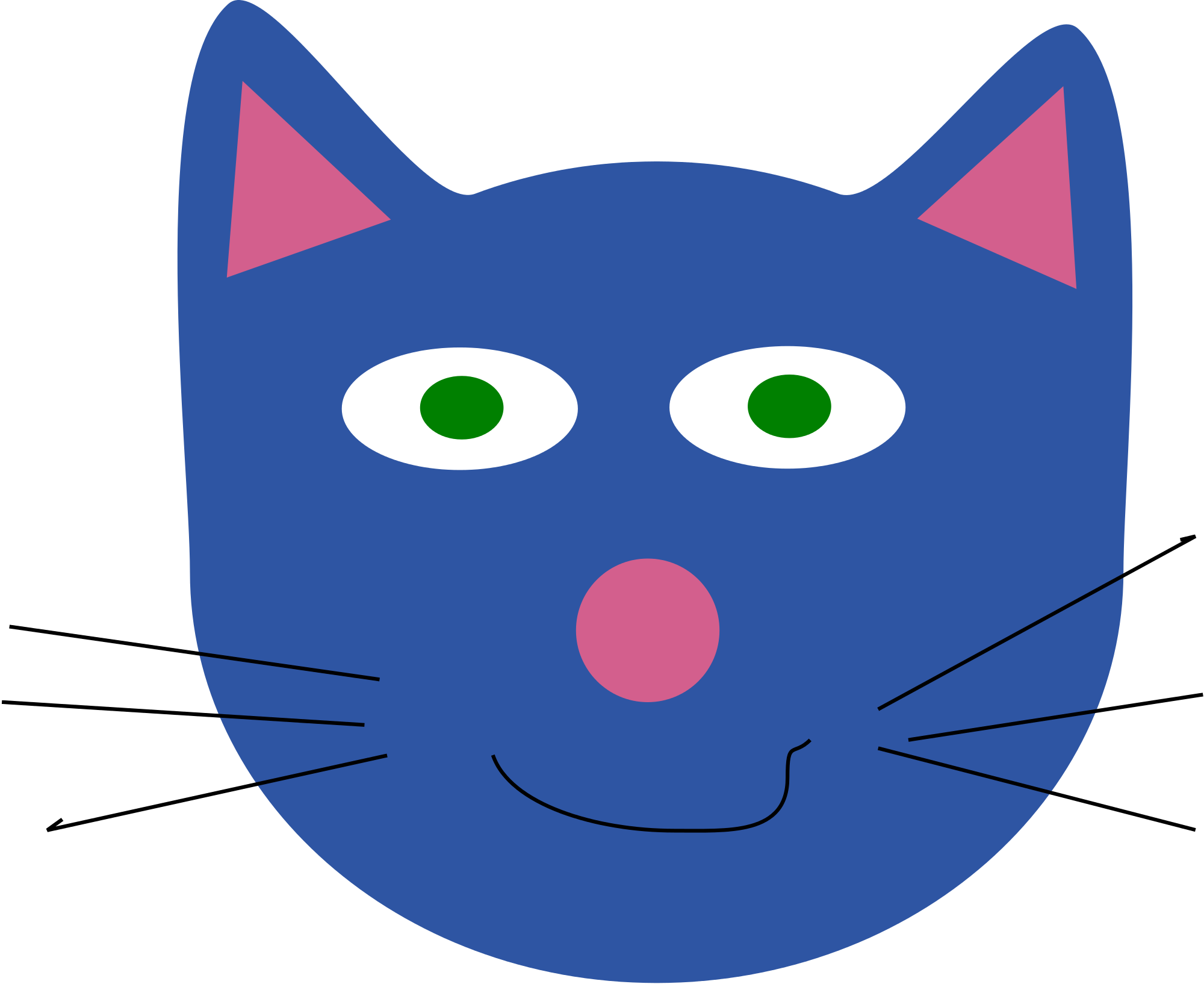 Cat clipart head png black and white library File:Cat drawing.svg - Wikimedia Commons png black and white library