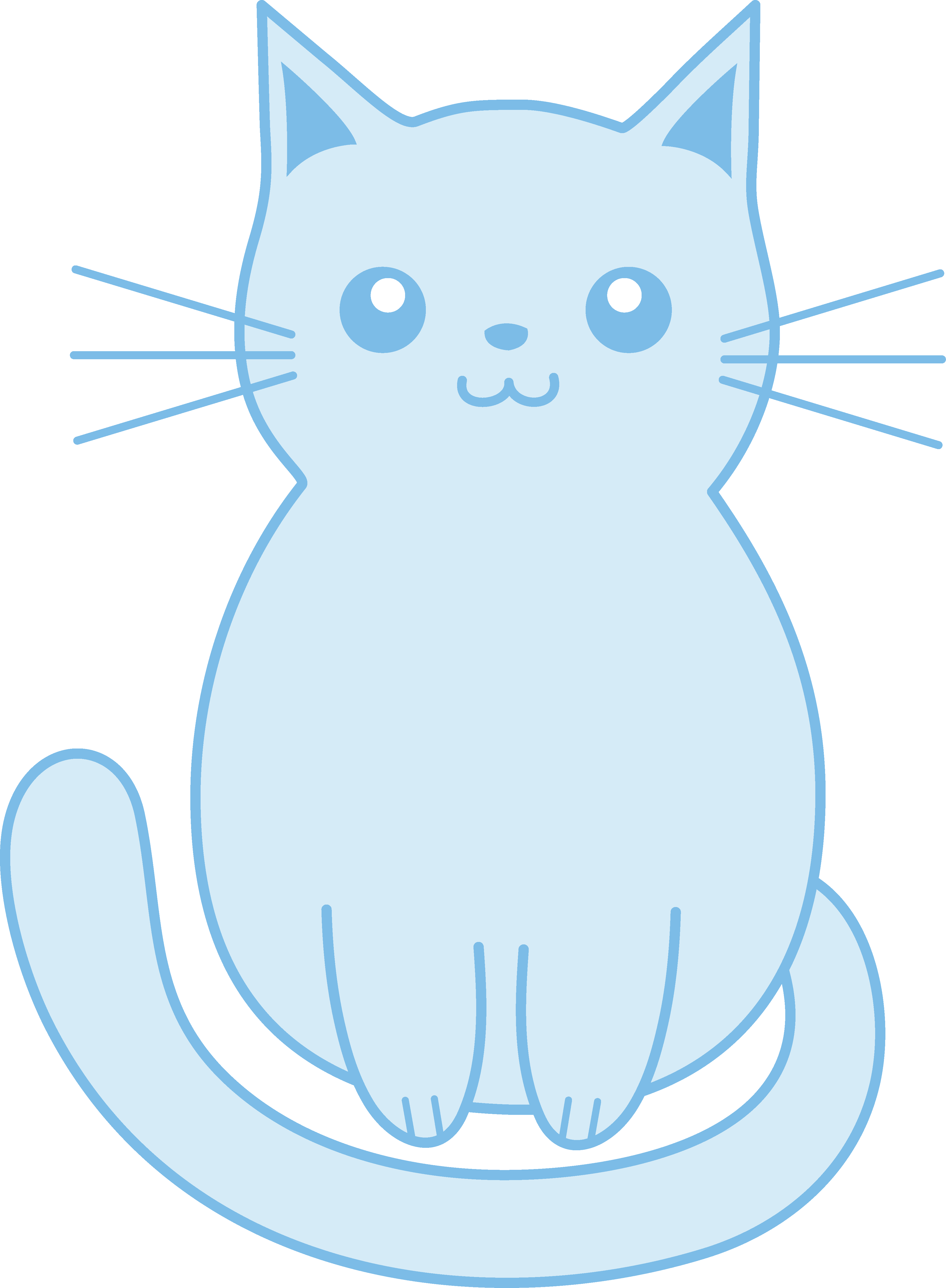 Blue cat clipart clip art black and white Cute Blue Kitten Clip Art - Free Clip Art clip art black and white