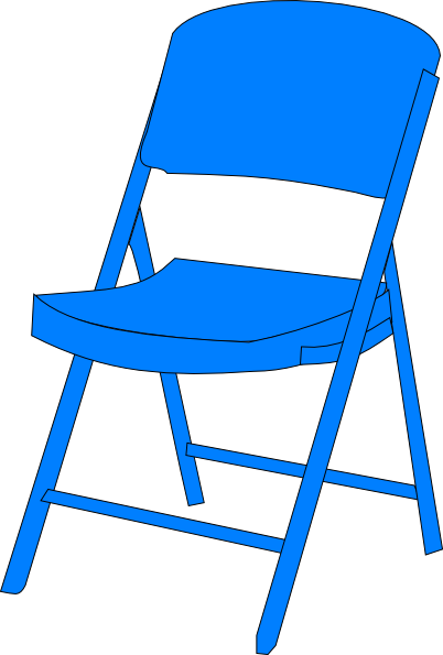 Blue chair clipart clip royalty free library Blue Chair Fold Up Clip Art at Clker.com - vector clip art online ... clip royalty free library