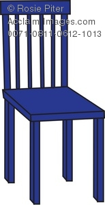Blue chair clipart clip art black and white stock Royalty Free Clipart Illustration of a Blue Chair clip art black and white stock