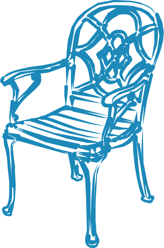 Blue chair clipart picture transparent stock Free Clipart: Blue Chair | JicJac picture transparent stock