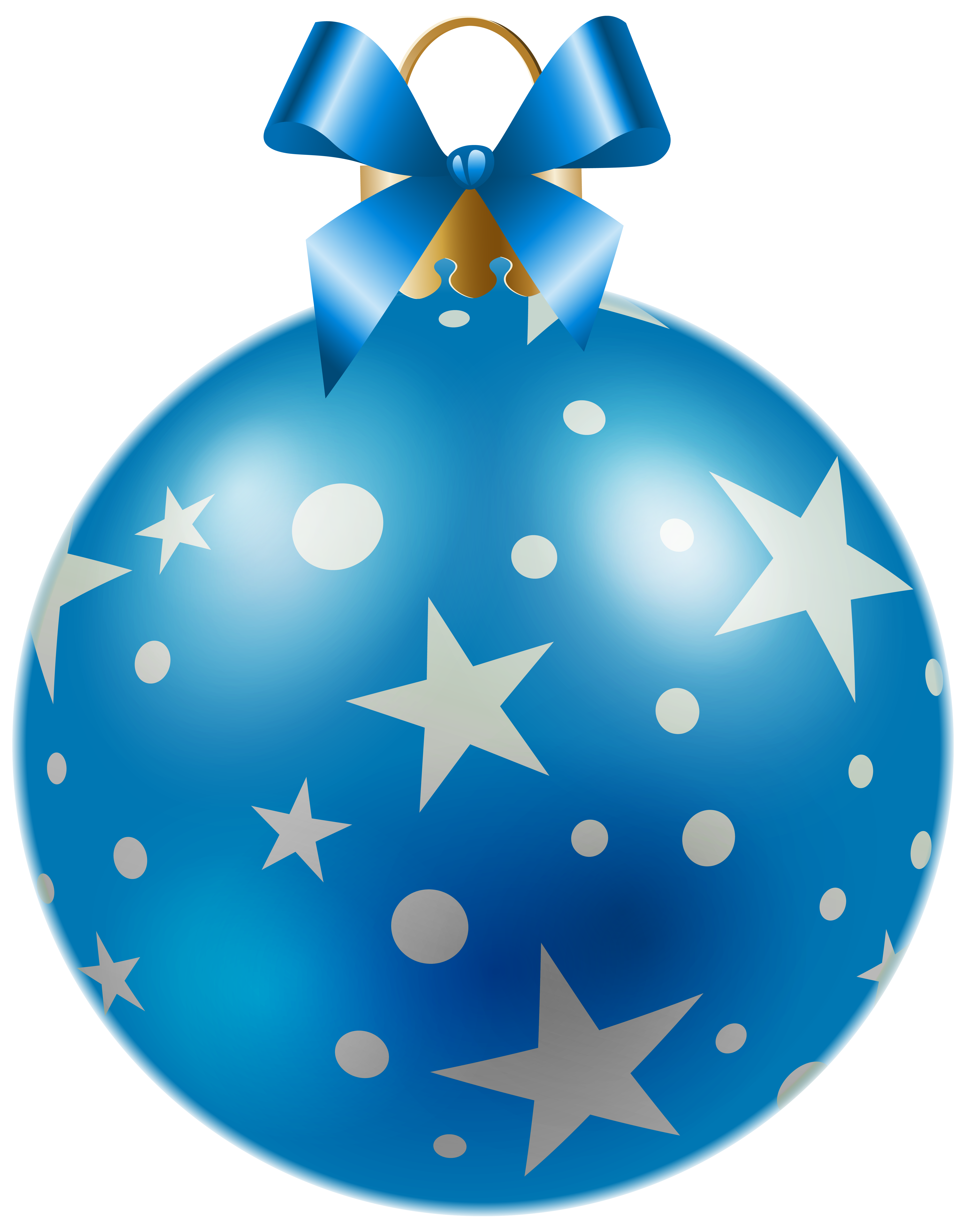 Holiday star clipart jpg free download Christmas Blue Ball with Stars PNG Clipart Image | Gallery ... jpg free download