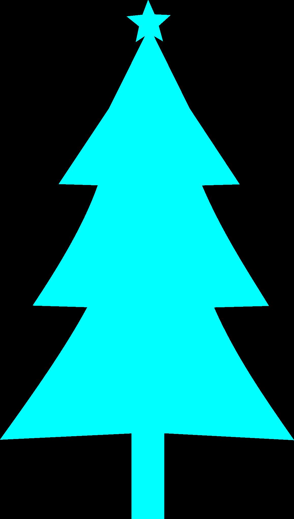 Blue christmas clipart clip transparent download Clipart - Christmas tree Silhouette clip transparent download