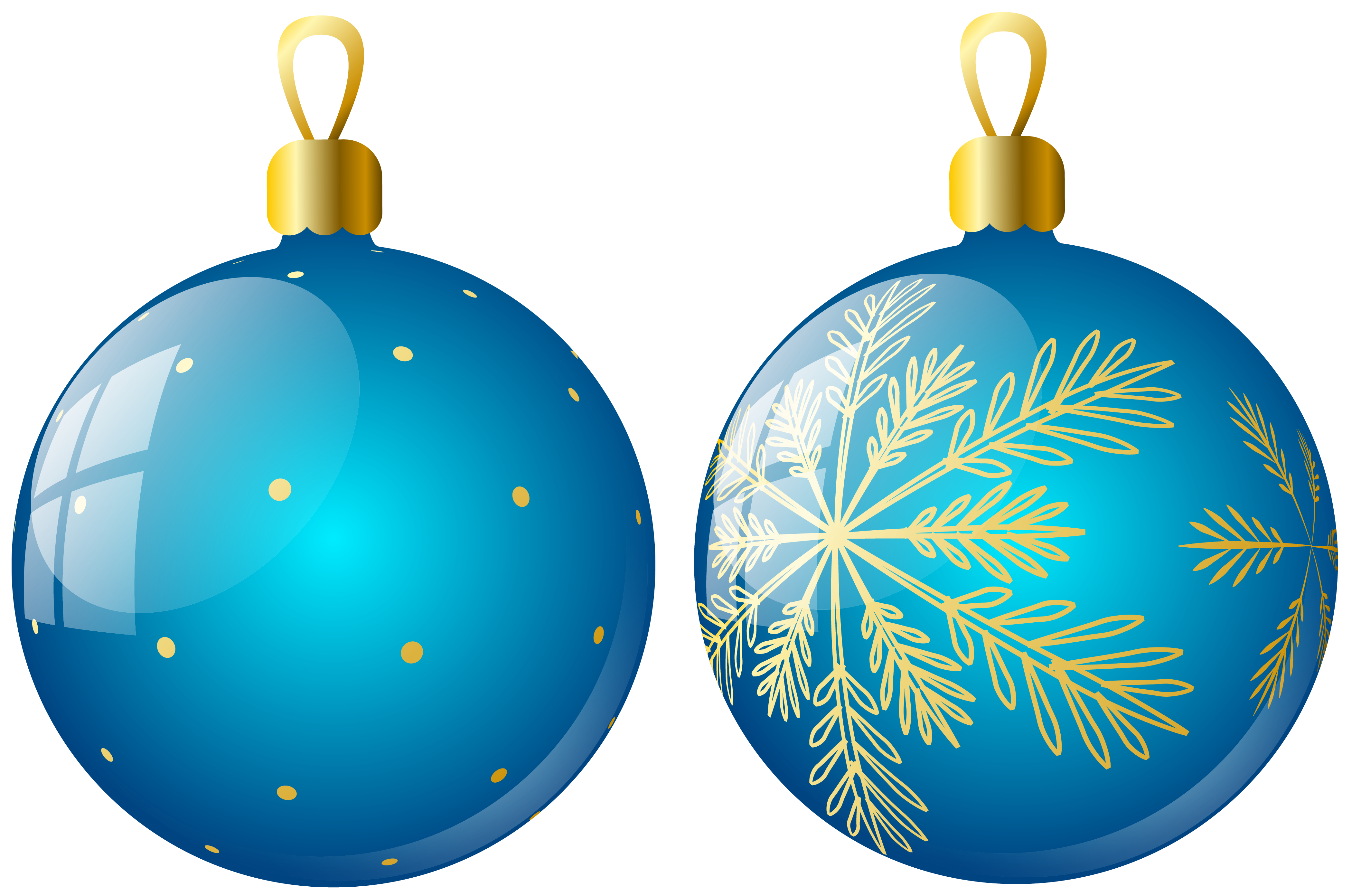 Christmas bulbs clipart clip free library Transparent Two Blue Christmas Balls Ornaments Clipart | Gallery ... clip free library