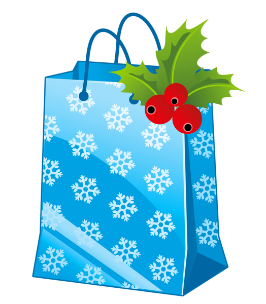 Winter snowflake gift bag clipart graphic free library Transparent Christmas Blue Gift Box Clipart | ~*♧️Gift boxes ... graphic free library