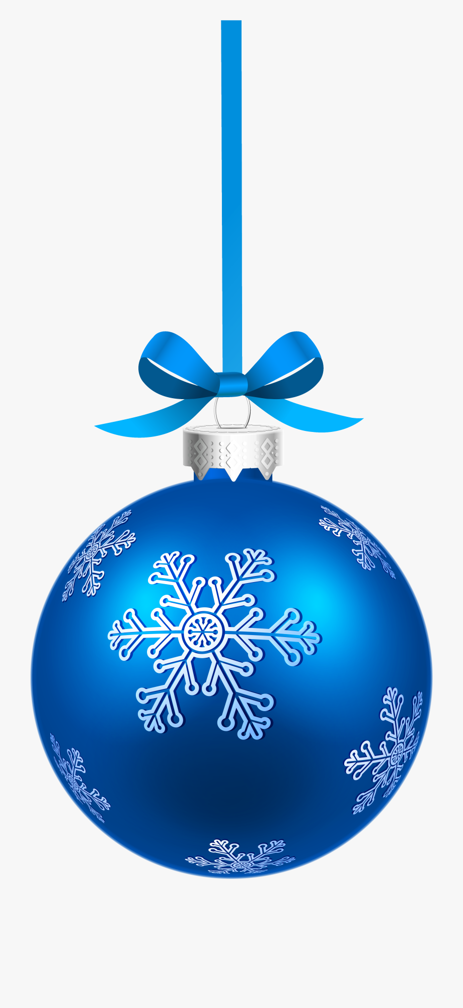Blue christmas ornament clipart vector transparent library Blue Christmas Hanging Ball With Snowflakes Png Clipart - Hanging ... vector transparent library