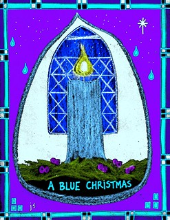 Blue christmas service clipart jpg library Blue Christmas art – Stushie Art jpg library
