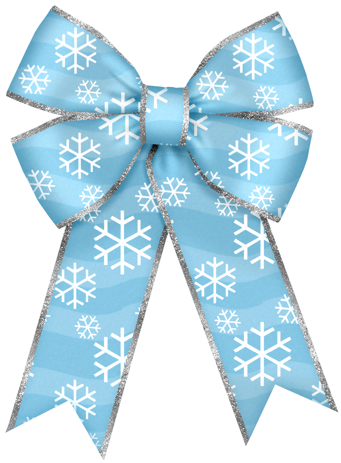 Blue snowflake free banner clipart image freeuse Christmas Blue Bow with Snowflakes PNG Clipart | Ribbon & Bow ... image freeuse