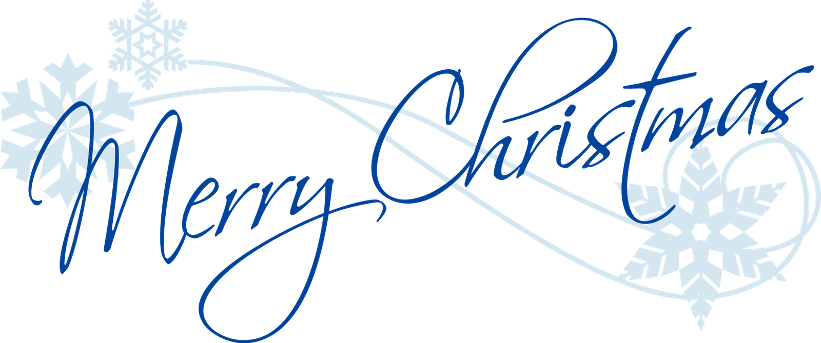 Blue christmas snowflake clipart free vector black and white Merry Christmas Text PNG Transparent Free Images | PNG Only vector black and white
