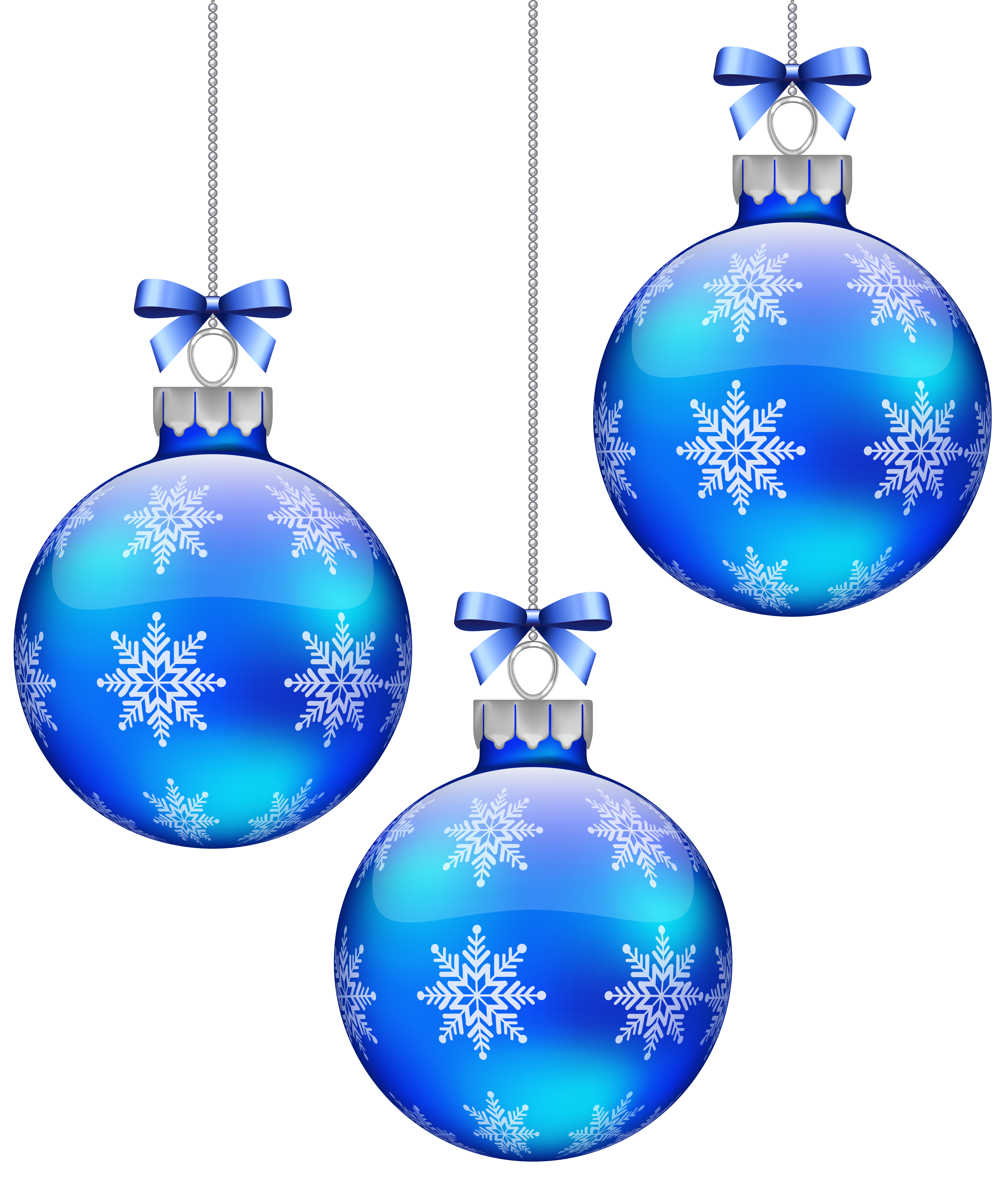 Blue christmas snowflake clipart free graphic black and white Blue Christmas Balls Decoration PNG Clipart Image | Gallery ... graphic black and white