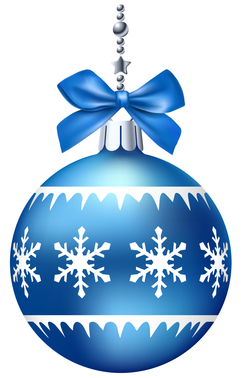 Blue christmas tree clipart clip transparent library Blue Christmas Ball PNG Clip Art clip transparent library