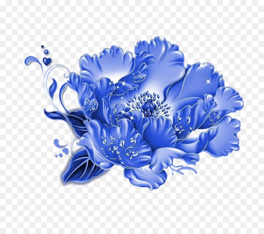 Blue chrysanthemum clipart banner royalty free library Flowers Clipart Background png download - 800*800 - Free Transparent ... banner royalty free library