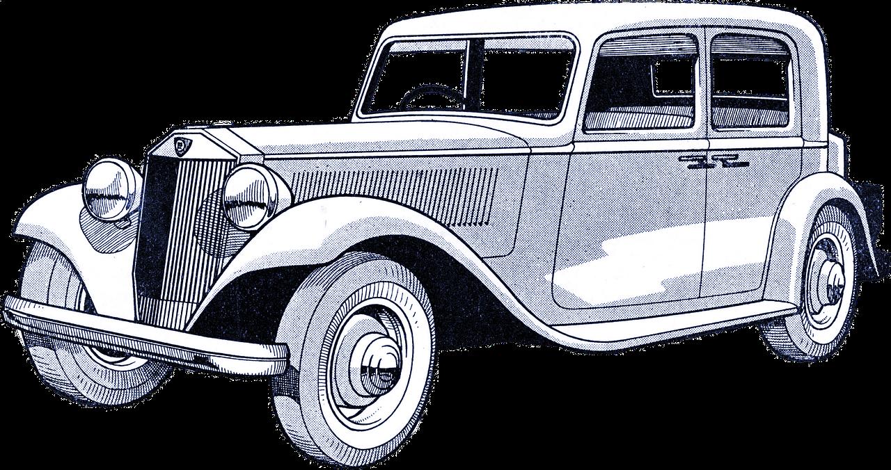 Blue classic car clipart jpg transparent download Car Vintage Drawing Old Antique PNG Image - Picpng jpg transparent download
