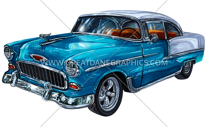 Blue classic car clipart jpg transparent stock Vintage Car | Production Ready Artwork for T-Shirt Printing jpg transparent stock