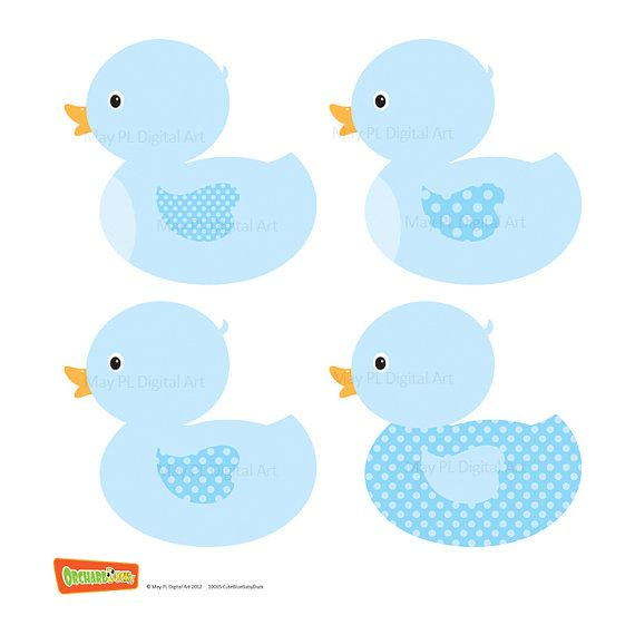 Blue clipart duck banner free stock Duck Digital Clipart Clip Art Blue Baby Boy Shower Party Invitation ... banner free stock