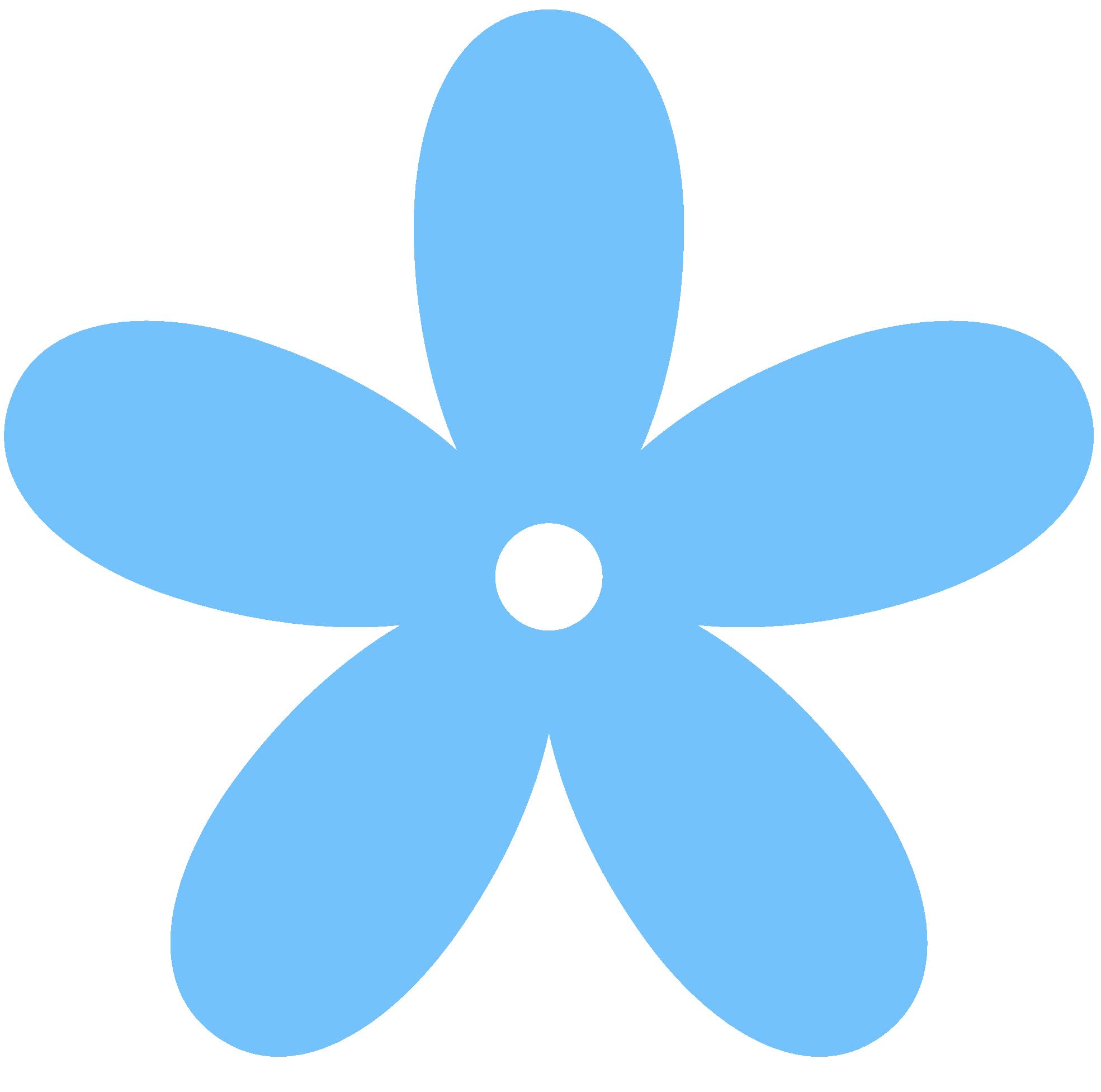 Free blue flower clipart