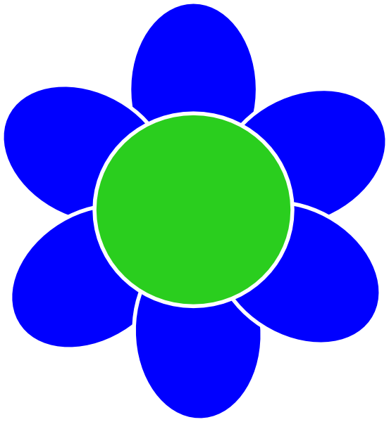 Blue Flower Clip Art at Clker.com - vector clip art online, royalty ... picture black and white