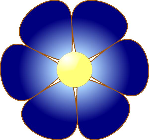 Cute flower clipart clip art library Blue Flower Clip Art at Clker.com - vector clip art online, royalty ... clip art library