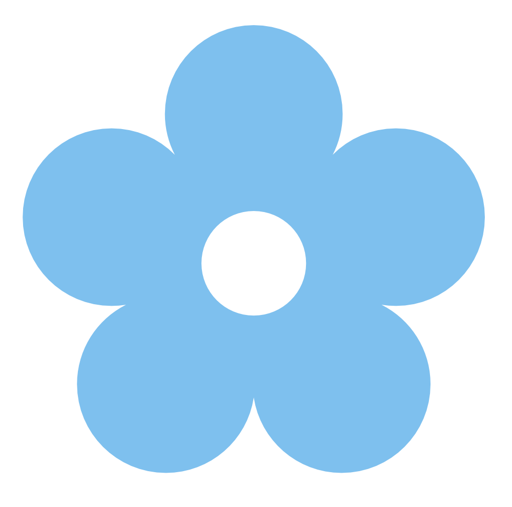 Blue Flower Free Clipart graphic