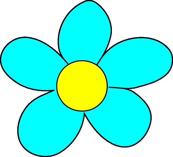 Flower picture clipart picture transparent download Blue Flower Clip Art at Clker.com - vector clip art online, royalty ... picture transparent download