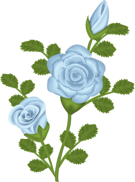 Clipart of a blue flower to print for free