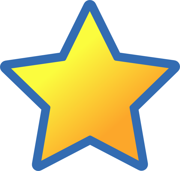 Star clipart clipart black and white Blue Back Star Clip Art at Clker.com - vector clip art online ... black and white