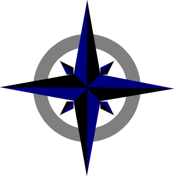 Blue compass rose clipart vector free Bluegrey Compass Rose PNG, SVG Clip art for Web - Download Clip Art ... vector free