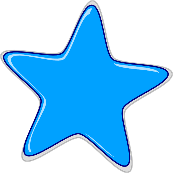 28+ Collection of Blue Star Clipart | High quality, free cliparts ... transparent download
