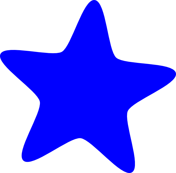 Star clipart blue vector transparent Blue Star Clip Art at Clker.com - vector clip art online, royalty ... vector transparent