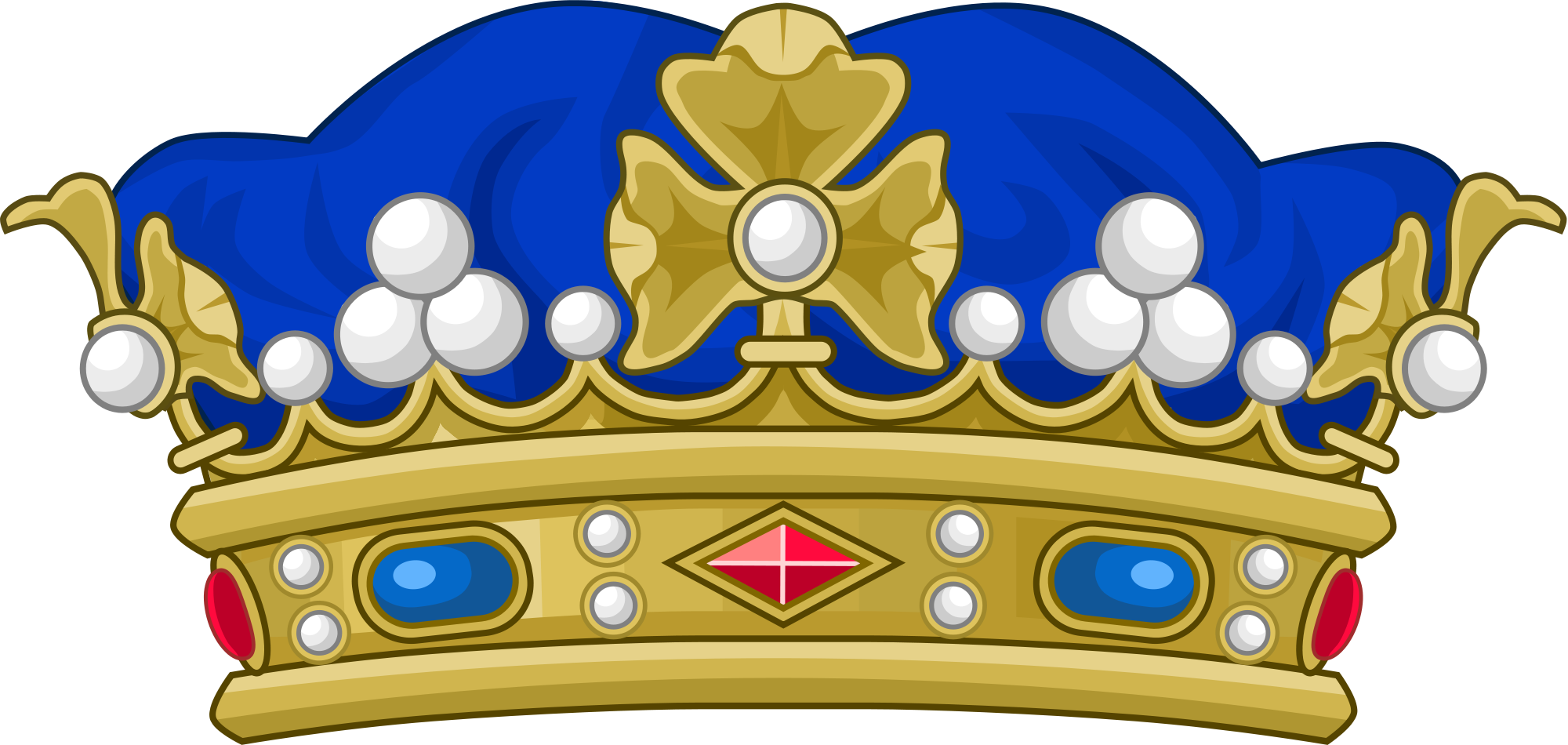 Clipart brons crown picture transparent File:Crown of a Marquis of France.svg - Wikimedia Commons picture transparent