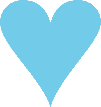 Blue cute hearts clipart png black and white Cute Heart Clipart Blue - clipartsgram.com png black and white