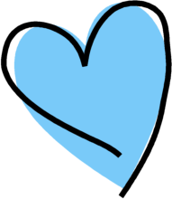 Blue cute hearts clipart. Heart clipartfest funky
