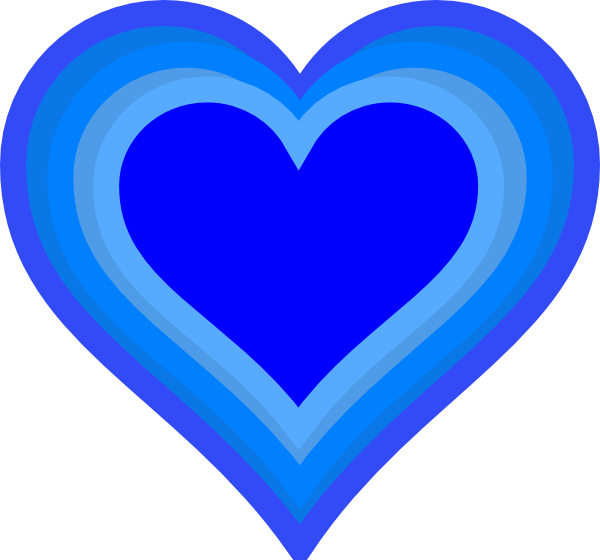 Blue cute hearts clipart svg royalty free Blue Heart Clip Art - ClipArt Best svg royalty free