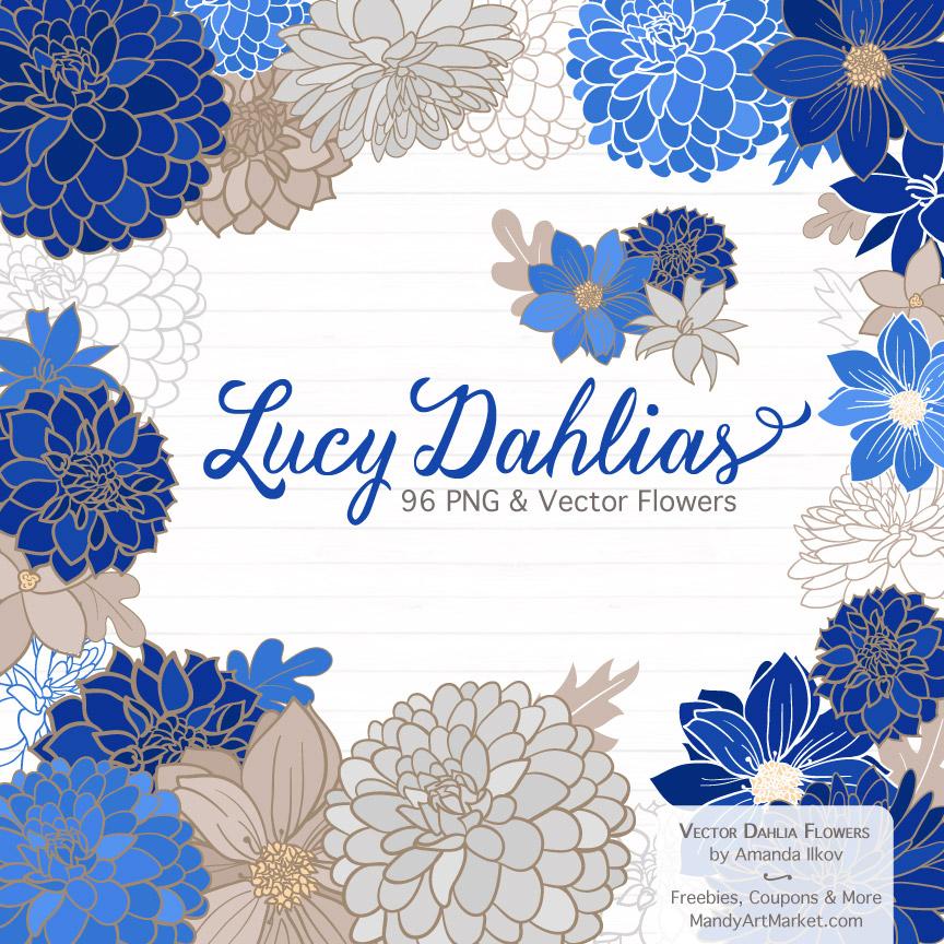 Royal blue flowers clipart jpg freeuse Royal Blue Dahlia Clipart jpg freeuse