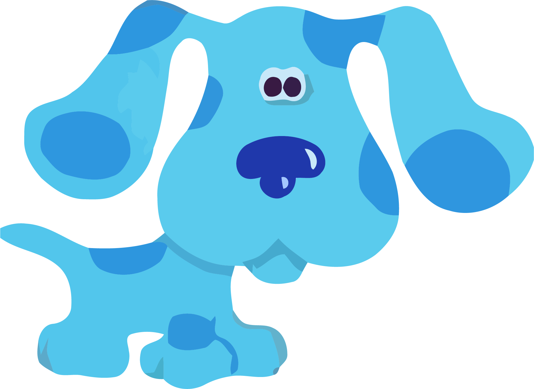 Blue dog bone clipart vector library library Blues Clues Clipart at GetDrawings.com | Free for personal use Blues ... vector library library