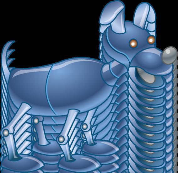 Farm dog clipart vector black and white download Robot Pets Clipart vector black and white download