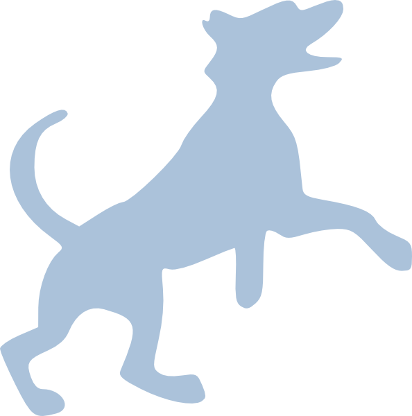 Blue Dog Clip Art at Clker.com - vector clip art online, royalty ... clip black and white