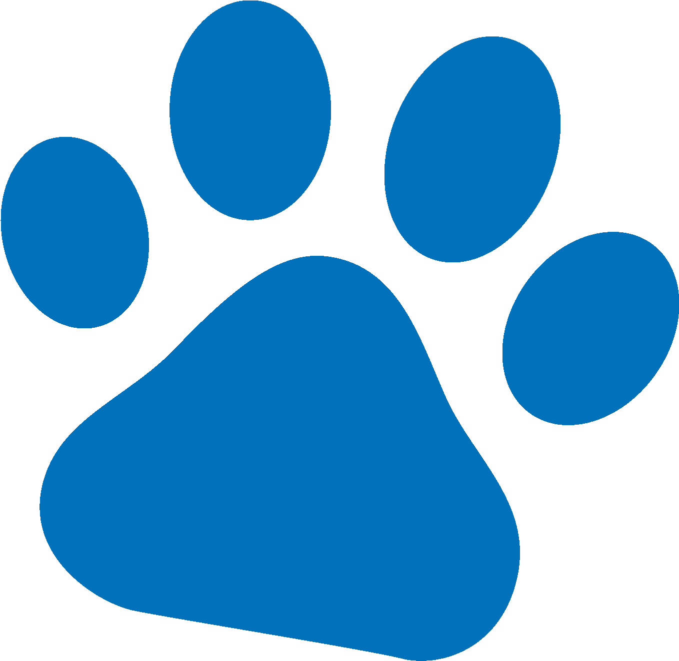 Small dog paw print clipart image stock Pals Paw Blue - Cat Paw Print Small Clipart - Full Size Clipart ... image stock