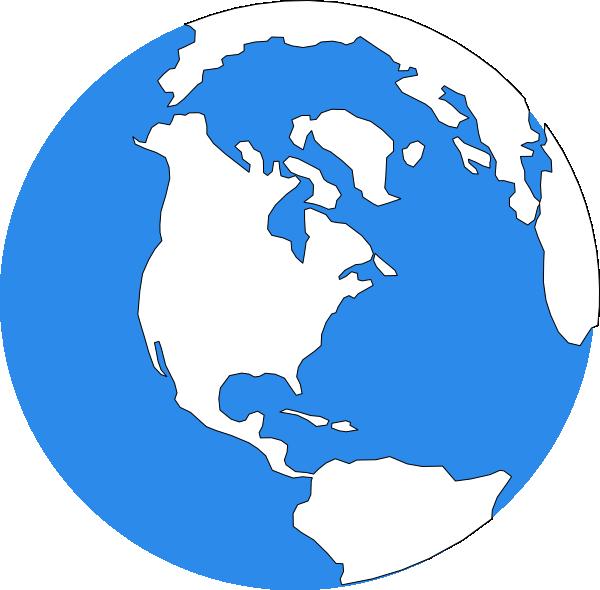 Blue earth clipart