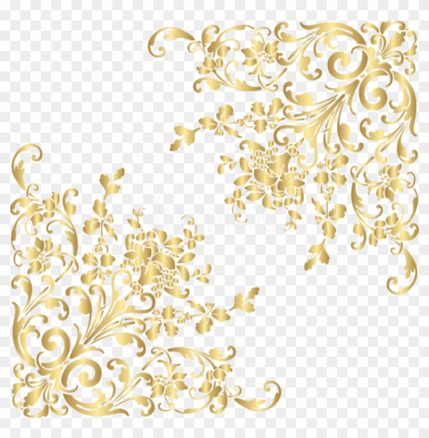 Blue elegant glitter corner clipart picture transparent library Free Png Download Gold Corners Clipart Png Photo Png - Gold Sparkle ... picture transparent library