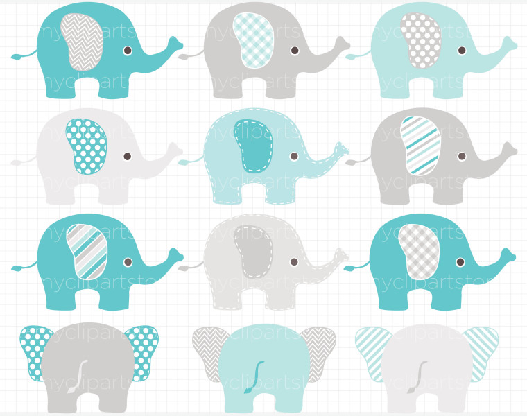 Blue elephant clipart baby shower banner freeuse Free Blue Elephant Cliparts, Download Free Clip Art, Free Clip Art ... banner freeuse