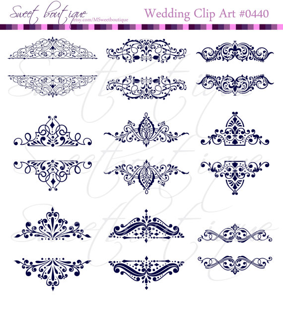 Blue embelishment clipart