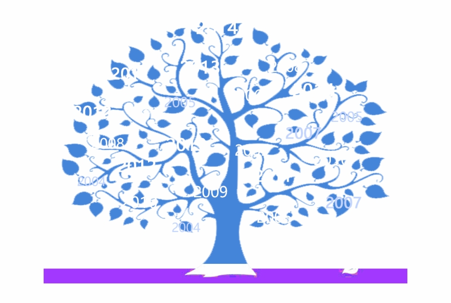Blue family tree cliparts clip art library download Wedding Anniversary Poster Gift Family Tree - Png Tree Template ... clip art library download