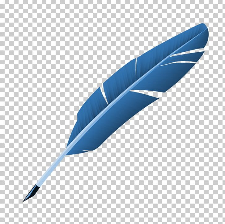 Blue feather clipart