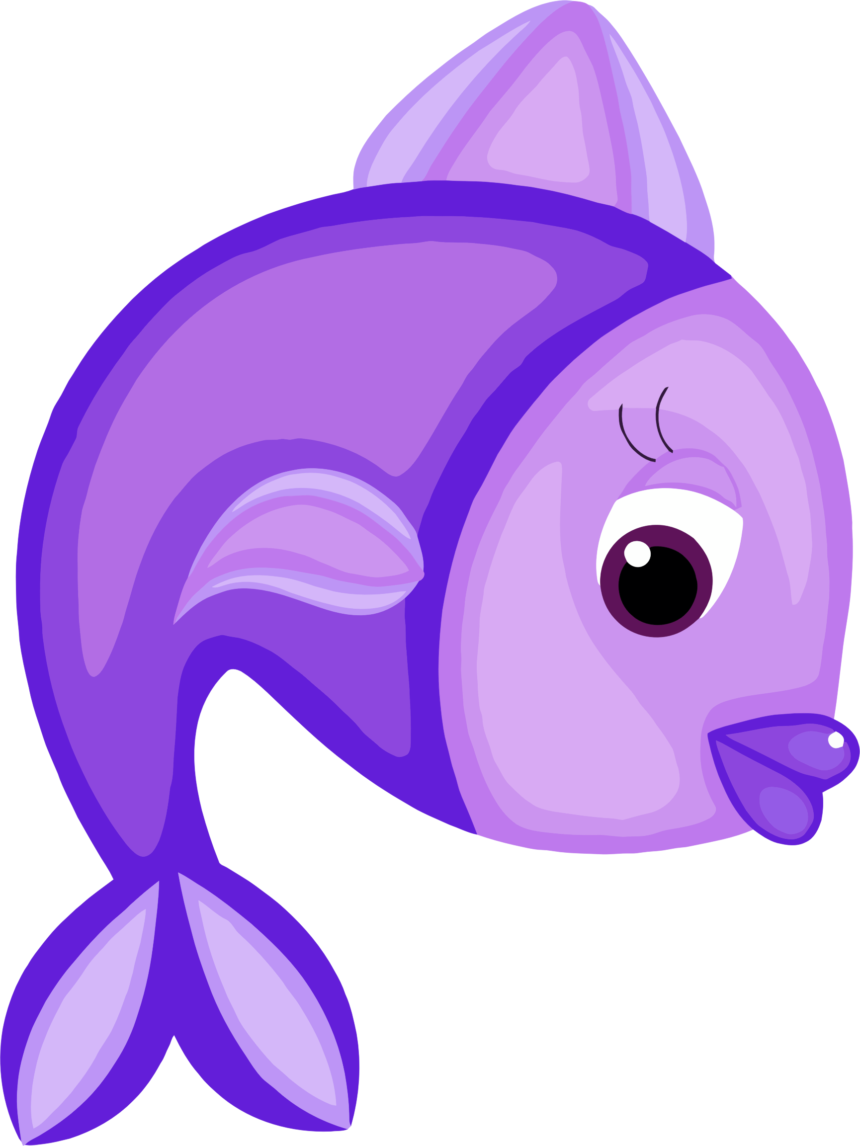 Fish cartoon clipart picture royalty free Clipart - Blue Fish picture royalty free