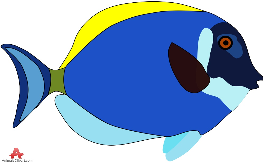 Blue fish clipart design banner royalty free stock Blue Fish Image | Free download best Blue Fish Image on ClipArtMag.com banner royalty free stock