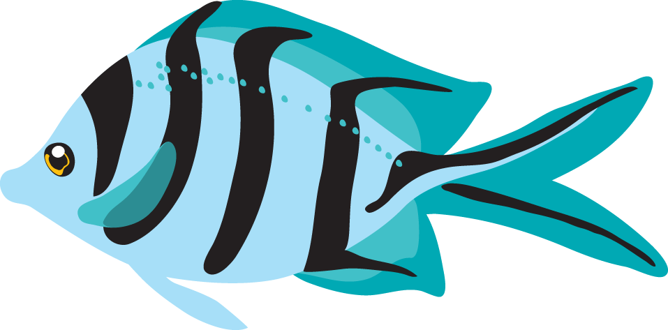 Blue fish clipart design clip art download Ocean With Fish Clipart Ocean fish clip art tropical | Education ... clip art download