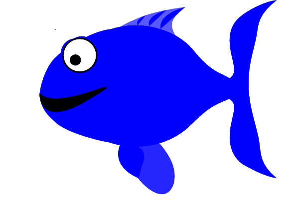 Blue fish clipart design image royalty free library Blue Happy Fish PNG, SVG Clip art for Web - Download Clip Art, PNG ... image royalty free library